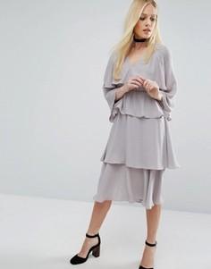 Платье миди Lost Ink - Серый