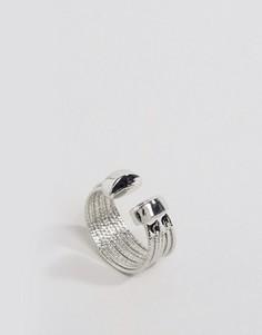 Массивное многорядное кольцо DesignB - Серебряный