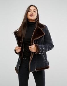 Куртка-авиатор с подкладкой из искусственного меха Missguided - Мульти