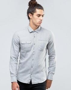 Светлая джинсовая рубашка Threadbare - Серый