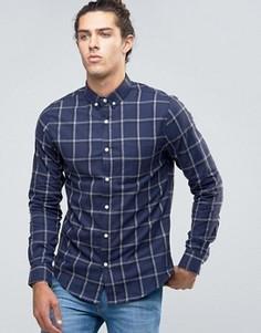 Рубашка в клетку Threadbare - Темно-синий