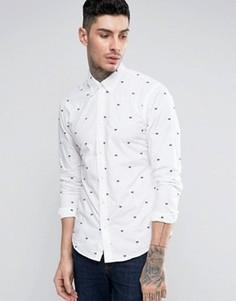 Рубашка с вышивкой Scotch and Soda - Белый