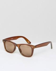 Коричневые квадратные солнцезащитные очки ASOS - Коричневый