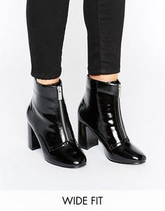Ботинки для широкой стопы на молнии спереди ASOS ELSPETH - Черный