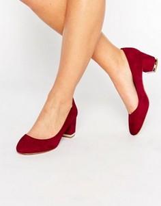 Кожаные туфли на блочном каблуке ALDO Falia - Красный
