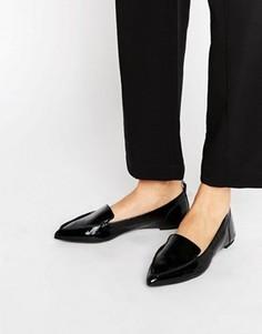 Кожаные туфли на плоской подошве с заостренным носком ALDO Bazovica - Черный