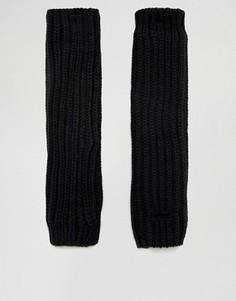 Черные перчатки без пальцев с манжетами ASOS - Черный