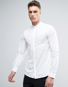 Рубашка с воротом на пуговице и длинными рукавами Jack & Jones - Белый