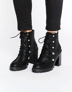 Кожаные походные ботинки ASOS EISHA - Черный