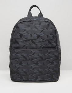Камуфляжный рюкзак ASOS - Черный