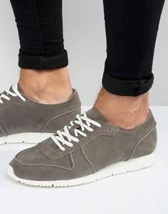 Серые кроссовки в стиле ретро из искусственной замши ASOS - Серый
