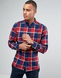 Клетчатая рубашка слим с длинными рукавами Esprit - Красный