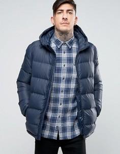 Стеганая утепленная куртка с капюшоном Jack Wills Lux - Темно-синий