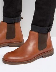 Светло-коричневые кожаные ботинки челси с натуральной подошвой ASOS - Рыжий