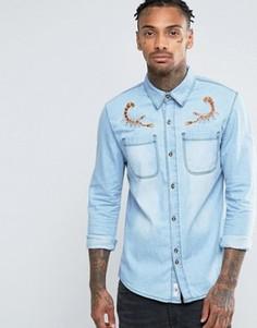 Джинсовая рубашка с омаром Bellfield - Серый