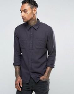 Рубашка в ломаную клетку с начесом Bellfield - Темно-синий