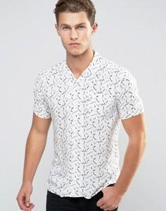 Рубашка с короткими рукавами и геометрическим принтом Bellfield - Белый