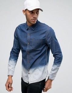 Джинсовая рубашка с эффектом деграде Bellfield - Темно-синий