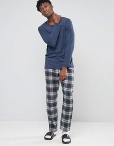Пижама в клетку Esprit - Темно-синий