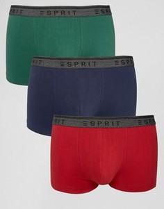 Набор из 3 пар боксеров-брифов Esprit - Зеленый