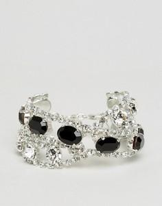 Эффектный браслет с кристаллами Swarovski Krystal - Серебряный