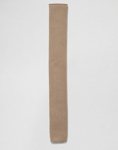 Вязаный галстук песочного цвета 7X - Серый