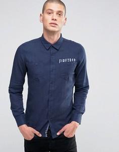 Фланелевая рубашка с начесом Firetrap - Темно-синий