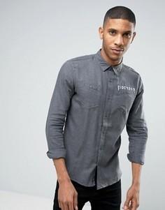 Фланелевая рубашка с начесом Firetrap - Черный