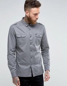 Рубашка в стиле милитари Firetrap - Серый