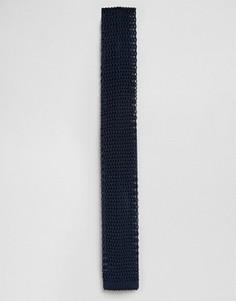 Галстук из шелкового трикотажа Jack & Jones - Темно-синий