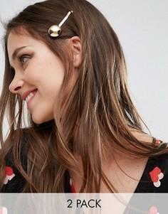 Две заколки для волос с дисками DesignB London - Золотой