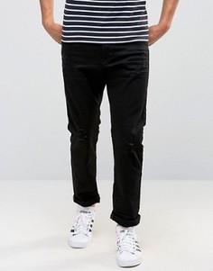 Узкие джинсы с потертостями Esprit - Черный