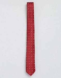 Новогодний галстук с принтом звезд и подарков ASOS - Красный