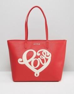 Сумка-шопер Love Moschino - Красный