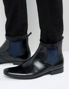 Блестящие ботинки челси Ted Baker Hourb 2 - Черный