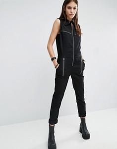 Комбинезон в стиле милитари с молниями Tripp NYC - Черный