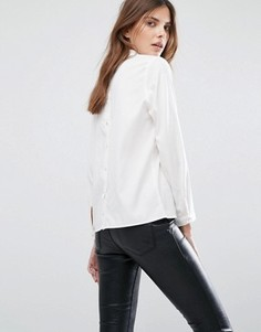 Рубашка с пуговицами на спине Selected Femme - Белый