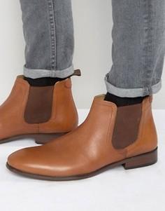 Светло-коричневые кожаные ботинки челси Red Tape - Рыжий