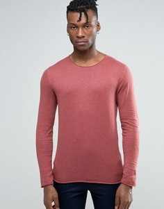 Тонкий трикотажный джемпер Selected Homme - Розовый