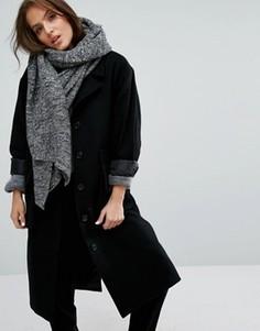 Oversize-шарф в рубчик Pieces - Мульти