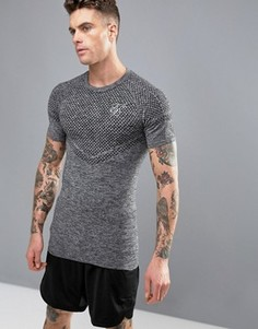 Футболка с логотипом SikSilk Compression - Серый