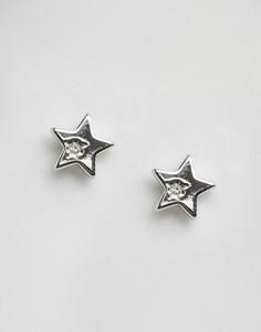 Серьги-гвоздики в виде звезд Pieces Hildby - Серебряный