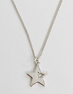 Ожерелье со звездой Pieces Hildby - Серебряный