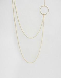 Ожерелье в несколько рядов с кольцом Pieces Heley - Золотой