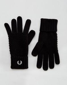Перчатки из овечьей шерсти Fred Perry - Черный