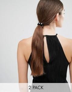 Набор из 2 резинок для волос со стразами Cara NY - Мульти