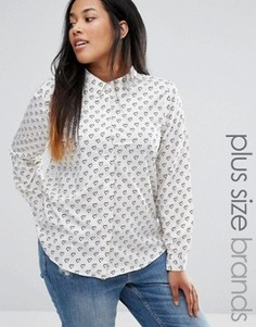 Рубашка с принтом сердец Brave Soul Plus - Кремовый