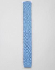 Голубой вязаный галстук 7X - Черный