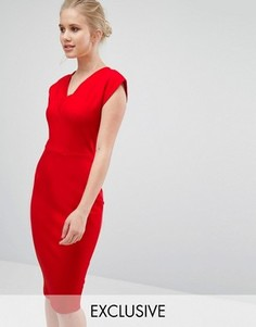 Платье-футболка с V-образным вырезом Closet - Красный