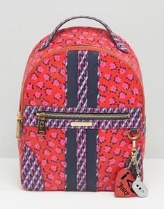 Рюкзак из парусины с покрытием и цветочным принтом Juicy Couture - Красный